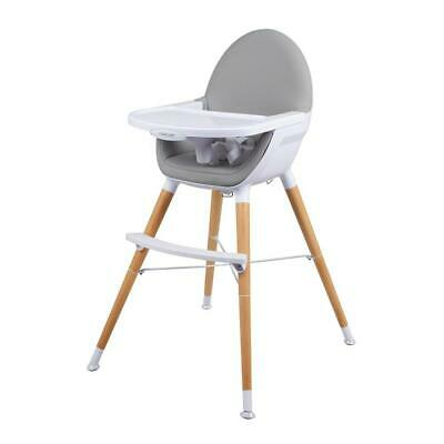 Childcare Pod Timber Baby High Chair Feeding WOODEN Highchair Natural
