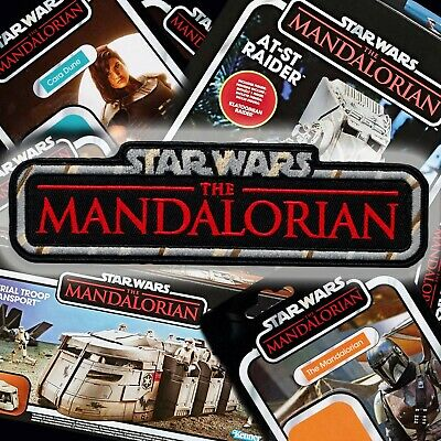 """STAR WARS""""The Mandalorian"""" Kenner Vintage Collection style toy logo patch"""