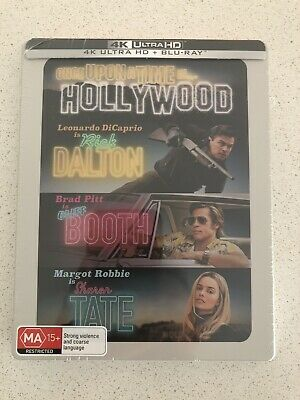 Once Upon A Time In Hollywood 2-Disc 4K Blu-Ray Limited Edition Steelbook!