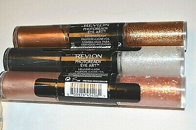 Revlon Photoready Eye Art Lid Line Lash Burnished Bling Peach Prism Black Lot 3
