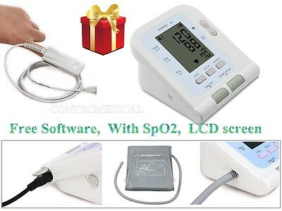 CONTEC08C Digital Blood Pressure Monitor NIBP / SpO2 Sensor+ PC Software, CE FDA