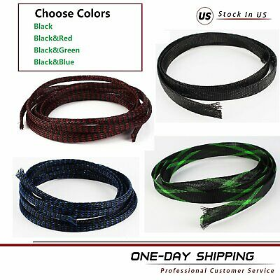 Cord Protected Wire Loom Braided Cable Sleeves - Expandable Nylon Sleeving Lot