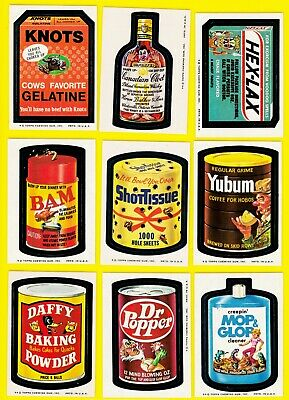 Original Wacky Packages Series 8 Full Set + Puzzle