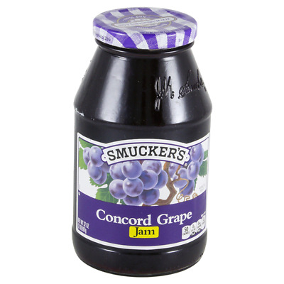 Lot 6 Jars Smucker's Grape Jam, 32 oz Each