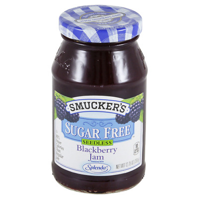 Lot 6 Jars Smucker's Sugar Free Seedless Blackberry Jam, 12.75 oz Each