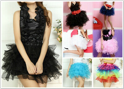 AU SELLER Adults Teens 6 Layered Organza Ballet Dance Tutu Cake Skirt da026