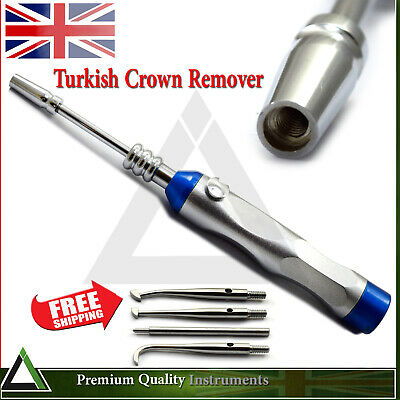Dental Automatic Crown Removal Turkish Gun Dentist Surgical 4 Attachments