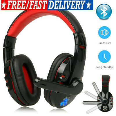 USA Wireless Bluetooth Gaming Headset W/ Mic Headphones For PC Laptop Xbox One