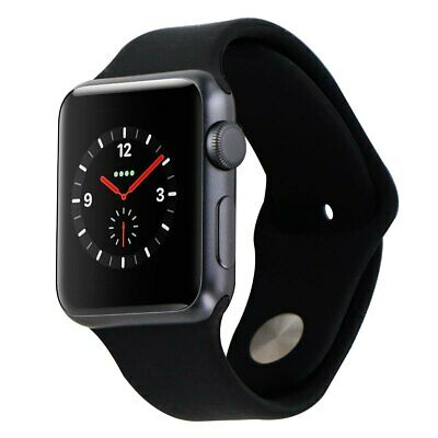 Apple Watch 38mm Aluminum Sports Band iWatch - ROSE GOLD - PINK  / BLACK