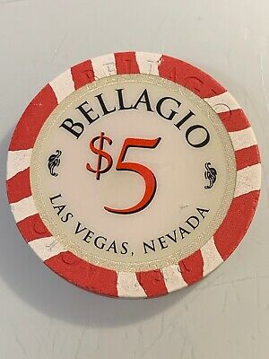 BELLAGIO $5 Casino Chip Las Vegas Nevada 3.99 Shipping