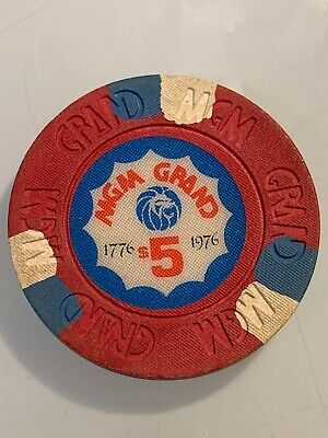 MGM GRAND $5 Casino Chip Las Vegas Nevada 3.99 Shipping