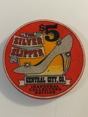 SILVER SLIPPER $5 Casino Chip CENTRAL CITY Colorado 3.99 Shipping