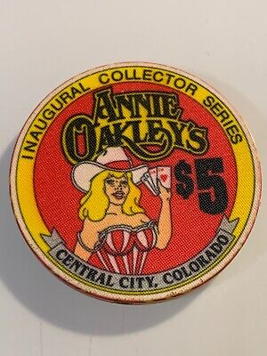ANNIE OAKLEY'S $5 Casino Chip CENTRAL CITY Colorado 3.99 Shipping