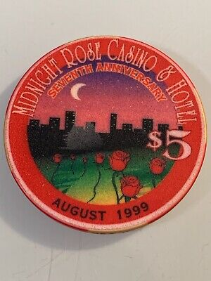 MIDNIGHT ROSE $5 Casino Chips Cripple Creek Colorado 3.99 Shipping LTD 200