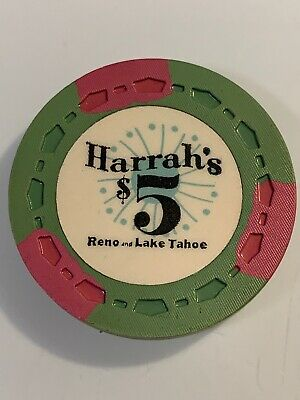 HARRAHS $5 Casino Chip LAKE TAHOE RENO Nevada 3.99 Shipping