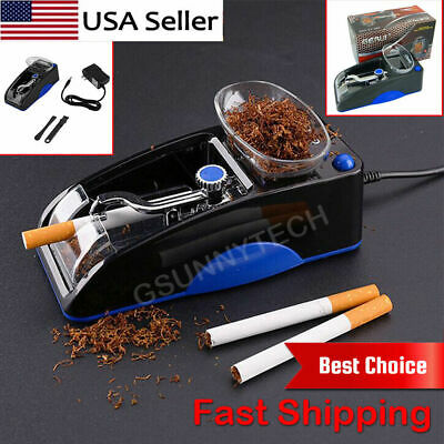 Blue Electric Automatic Cigarette Rolling Machine Tobacco Injector Maker Roller