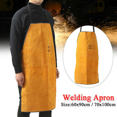 Safety Shop Leather Welding Work Apron Heat&Flame Resistant Protective Clothing