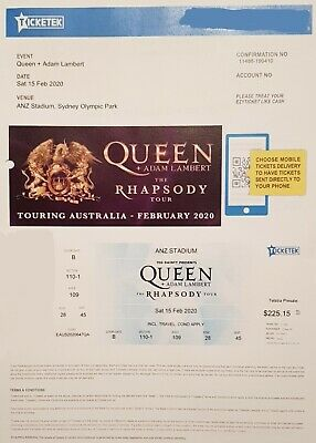 Queen Rhapsody Tour Concert in Sydney.