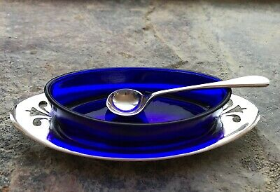 Vintage Silver Plated EPNS Mustard Sauce Dish With Spoon