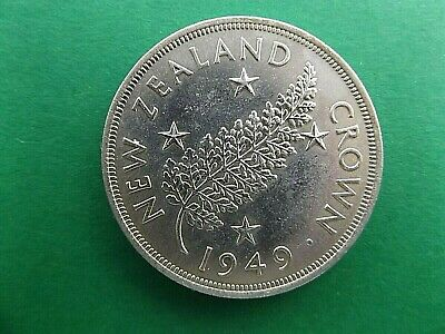NEW ZEALAND 1949 Silver Crown Top condition