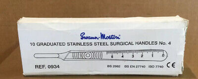 Swann Morton 10 Graduated Stainless Steel Surgical Handles No 4