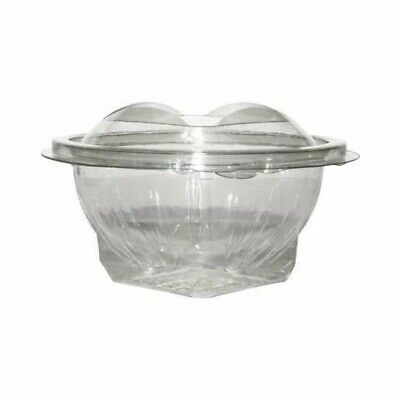Plastic Salad Bowl with Lid [250ml, 25-360pcs] Round Salad Clear Container Bowls
