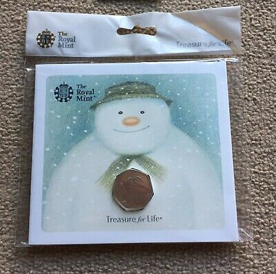 Royal Mint 50p Snowman 2018 And 2019 Packs Free P&P