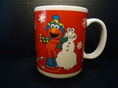 Jim Henson Productions The Sesame Street Store Elmo Cookie Monster Christmas Mug