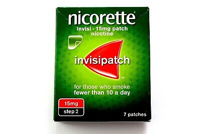 Nicorette Invisi - Invisipatch - 15mg Patch - Nicotine - Step 2 7 Patches