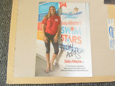 12 X 8 Glossy Photo Card Hand Signed Becky Adlington Obe