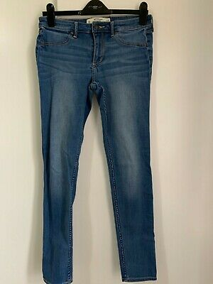 Ladies Abercrombie and Fitch Blue Jeans Skinny Size 28 Inch