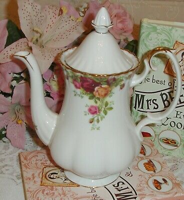 🌹ROYAL ALBERT Old Country Roses Coffee/Tea Pot -1st quality-extras/spares🌹