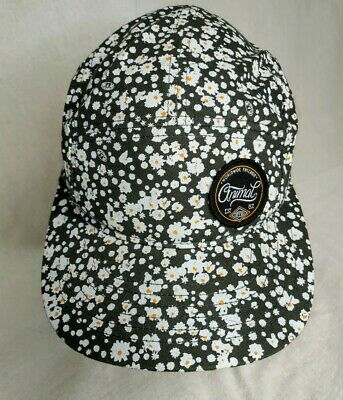 Womens Floral genuine animal Baseball Cap hat peaky  urban style