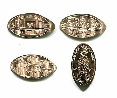 Set of 4 copper cents LANDMARKS OF HAWAII-SERIES IV