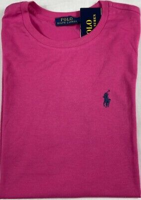 Genuine Polo by Ralph Lauren Ladies Tee Shirt Soft Touch Stretch  Pink S,M,L,XL