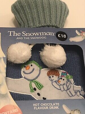 The Snowman and the Snowdog hot water bottle From Famous Film