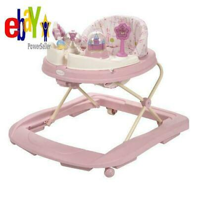 New Pink Baby Princess Developmental Walker Activity Girl Walking Aid Toy