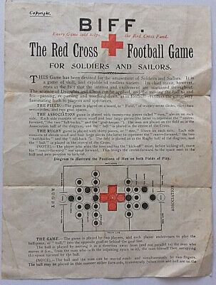 Antique World War One Rules Of Game Biff For Soldiers & Sailors Red Cross 1915
