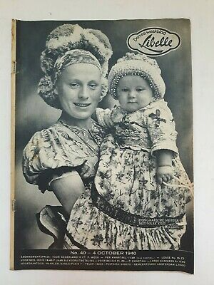 Libelle 4 October 1940 Vintage Oud Vieux Old Wwii Magazine