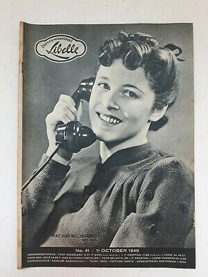 Libelle 41 11 October 1940 Vintage Oud Vieux Old Wwii Magazine