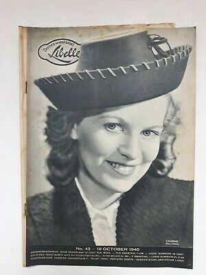 Libelle 42 18 October 1940 Vintage Oud Vieux Old Wwii Magazine