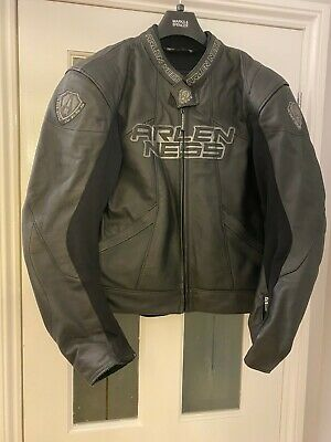 Arlen Ness Black Leather Jacket 9350 Size 46 - Very Good Condition