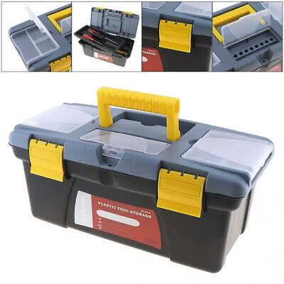 Large Portable Plastic Hardware Tool box with Storage Box and Black for Home