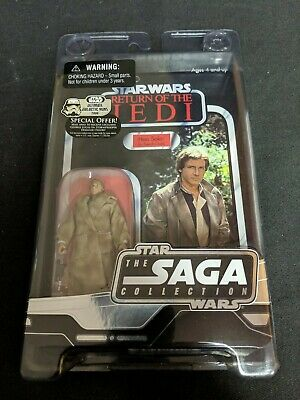 Star Wars The Saga Collection 2006 Han Solo (in trench coat) ROTJ. New unpunched