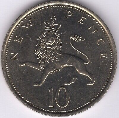 1974 Elizabeth II 10 New Pence | British Coins | Pennies2Pounds