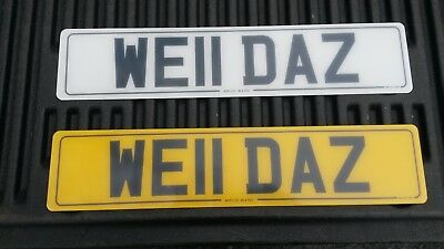 WE11DAZ Darren the Welder Weldas Weldaz Welldaz cherished number plate welding