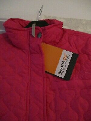 Bnwt - Ladies / Girls Regatta Pink Outdoor Jacket Zipped With Studs Lined Pocket