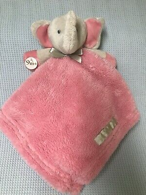 Blankets and Beyond Elephant Pink Gray Security Lovey Nunu Baby Girls