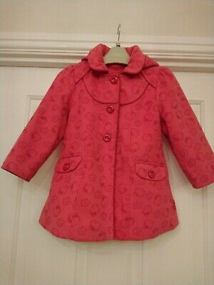 Girls coat 3-4 years in pink Hello Kitty design by George at Asda