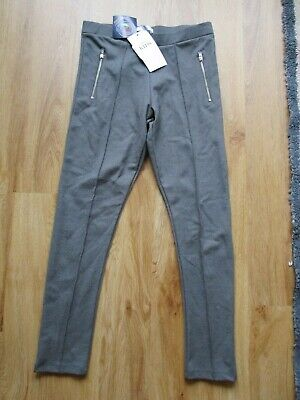 M&S Girls Grey Stretch School Leggings Trousers Bundle X 2 10-11 Years Bnwt
